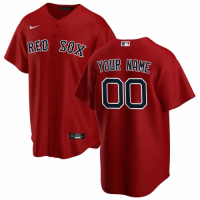 Men's Boston Red Sox Nike Red Alternate 2020 Replica Custom Jersey