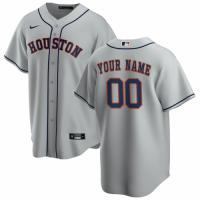 Men's Houston Astros Nike Gray Road 2020 Replica Custom Jersey
