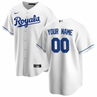 Men's Kansas City Royals Nike White Home 2020 Replica Custom Jersey