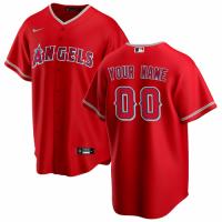 Men's Los Angeles Angels Nike Scarlet 2020 Alternate Replica Custom Jersey