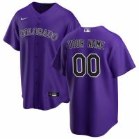 Men's Colorado Rockies Nike Purple 2020 Alternate Replica Custom Jersey