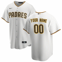 Men's San Diego Padres Nike White&Brown Home 2020 Replica Custom Jersey