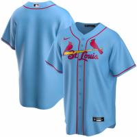 Men's St. Louis Cardinals Nike Light Blue Alternate 2020 Replica Custom Jersey