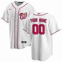 Men's Washington Nationals Nike White Home 2020 Replica Custom Jersey