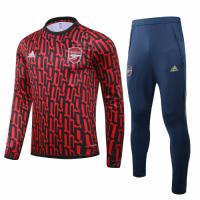20/21 Arsenal Dark Red O-Neck Sweat Shirt Kit(Top+Trouser)