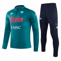 20/21 Napoli Navy Zipper Sweat Shirt Kit(Top+Trouser)