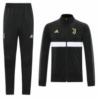 20/21 Juventus Black High Neck Training Kit(Jacket+Trouser)