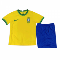 Brazil Kids Soccer Jersey Home Kit (Shirt+Short) 2021