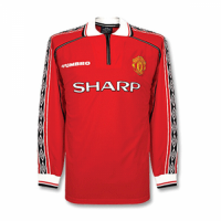 Manchester United Retro Soccer Jersey Home Long Sleeve Replica 1998/99