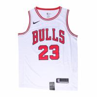 Men's Chicago Bulls Michael Jordan No.23 White Replica Swingman Jersey - Association Edition