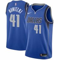 Men's Dallas Mavericks Dirk Nowitzki No.41 Nike Royal Swingman Jersey - Icon Edition