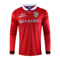 Manchester United Retro Soccer Jersey Home Long Sleeve Replica 1999/00
