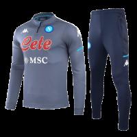 20/21 Napoli Gray Zipper Sweat Shirt Kit(Top+Trouser)