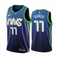 Men's Dallas Mavericks Luka Doncic #77 Nike Blue 202021 Swingman Jersey - City Edition