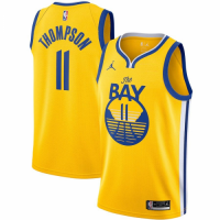 Men's Golden State Warriors Thompson #11 Jordan Brand Gold 20/21 Swingman Jersey - Statement Edition