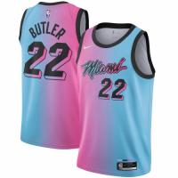 Men's Miami Heat Jimmy Butler #22 Blue&Pink 20/21 Swingman Jersey - City Edition