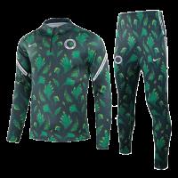 2021 Nigeria Dark Green Zipper Sweat Shirt Kit(Top+Trouser)