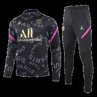 20/21 PSG Black&Pink Zipper Sweat Shirt Kit(Top+Trouser)