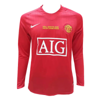 Manchester United Retro Soccer Jersey UCL Home Long Sleeve Replica 2007/08