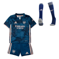 Arsenal Kids Soccer Jersey Third Away Whole Kit (Shirt+Short+Socks) 2020/21