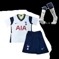 20/21 Tottenham Hotspur Home White Children's Jerseys Whole Kit(Shirt+Short+Socks)