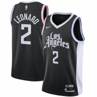 Men's LA Clippers Kawhi Leonard #2 Nike Black 2020/21 Swingman Player Jersey – City Edition