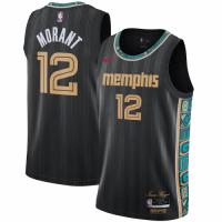 Men's Memphis Grizzlies Ja Morant #12 Nike Black 2020/21 Swingman Jersey - City Edition