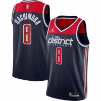 Men's Washington Wizards Rui Hachimura #8 Jordan Brand Navy 2020/21 Jersey - Statement Edition