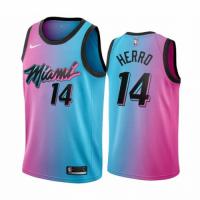 Men's Miami Heat Tyler Herro #14 Blue&Pink 20/21 Swingman Jersey - City Edition