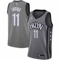 Men's Brooklyn Nets Kyrie Irving #11 Jordan Brand Gray 2020/21 Swingman Jersey - Statement Edition
