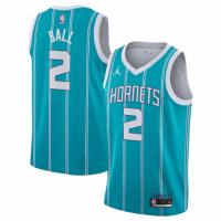 Men's Charlotte Hornets Lamelo Ball #2 Jordan Brand Green 20/21 Swingman Jersey-Association Edition