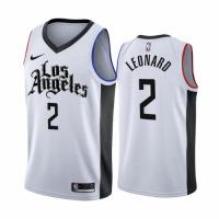 Men's LA Clippers Kawhi Leonard #2 Nike White 2020/21 Swingman Player Jersey – City Edition