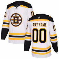 Men's Boston Bruins adidas White Authentic Custom Jersey