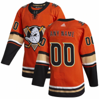 Men's Anaheim Ducks adidas Orange Alternate Authentic Custom Jersey