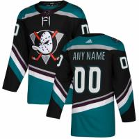 Men's Anaheim Ducks adidas Black Alternate Authentic Custom Jersey