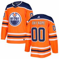 Men's Edmonton Oilers adidas Orange Authentic Custom Jersey