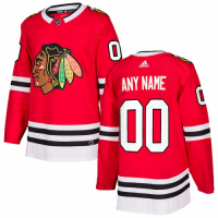 Men's Chicago Blackhawks adidas Red Authentic Custom Jersey