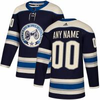 Men's Columbus Blue Jackets adidas Navy Authentic Alternate Custom Jersey