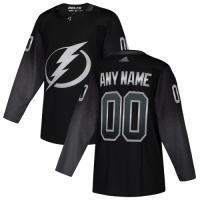 Men's Tampa Bay Lightning adidas Black Alternate Authentic Custom Jersey