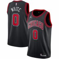 Men's Chicago Bulls Coby White #0 Jordan Brand Black 2020/21 Swingman Jersey - Statement Edition
