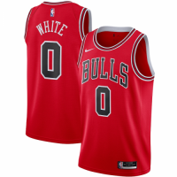 Men's Chicago Bulls Coby White Nike Red 2020/21 Swingman Jersey - Icon Edition