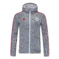 21/22 Ajax White&Black Windbreaker Hoodie Jacket