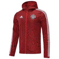 21/22 Manchester United Black&Red Windbreaker Hoodie Jacket