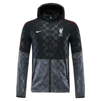 21/22 Liverpool GreyBlack Windbreaker Hoodie Jacket