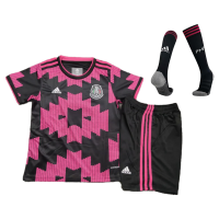 Mexico Kids Soccer Jersey Home Whole Kit (Shirt+Short+Socks) 2021