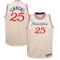 Men's Philadelphia 76ers Ben Simmons No.25 White Swingman Jersey - Icon Edition