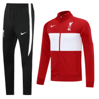 20/21 Liverpool Red&White High Neck Collar Training Kit(Jacket+Trouser)