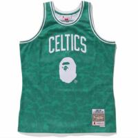 BAPE x Mitchell & Ness Celtics ABC Green Basketball Swingman Jersey