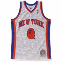 BAPE x Mitchell & Ness Knicks ABC White Basketball Swingman Jersey