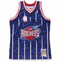 BAPE x Mitchell & Ness Rockets ABC Navy Basketball Swingman Jersey